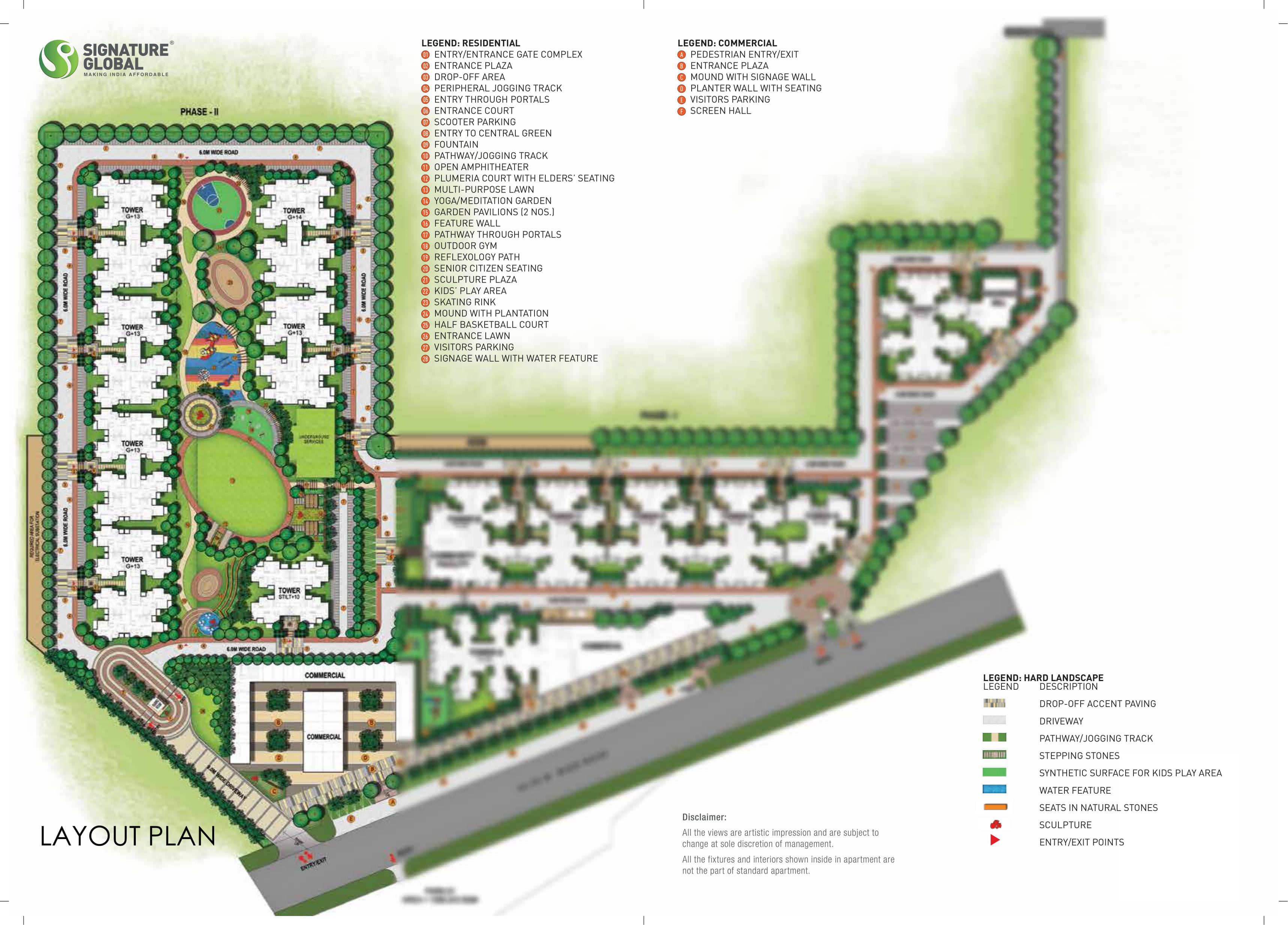 Signature Global Orchard Avenue 2 Site Plan