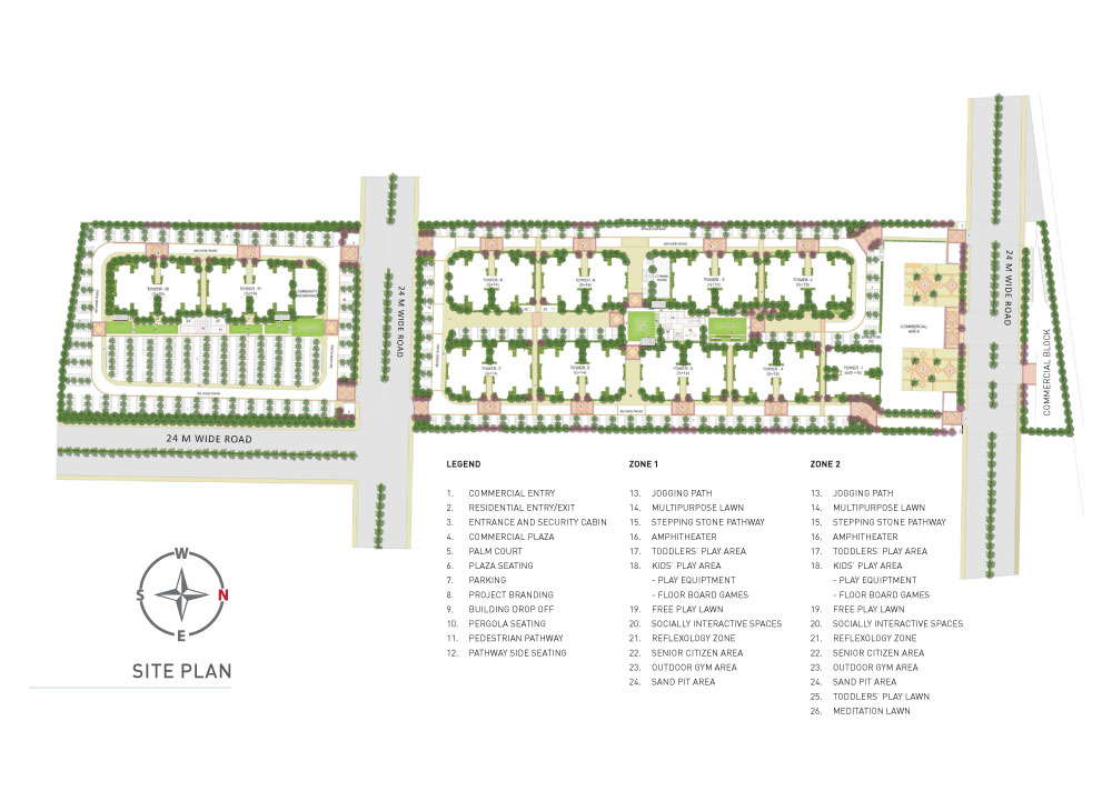 Signature Global The Millennia 3 Site Plan